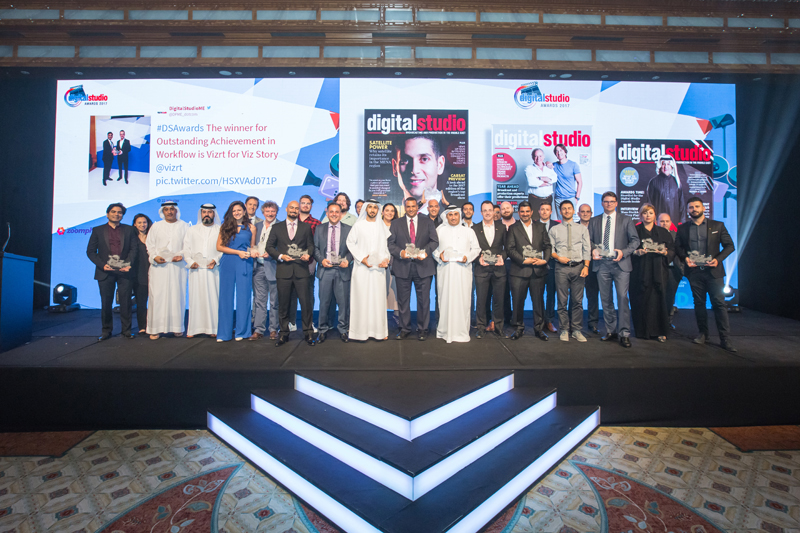Winners Group Shot, Digital Studio Awards 2017 , Ritz-Carlton, DIFC , Dubai, United Arab Emirates, 22/03/2017 Photo by Fritz John Asuro/ITP Images
